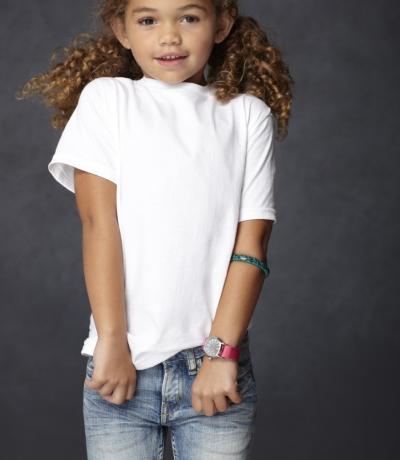 GIB 64000 - Gildan fehér gyerek póló