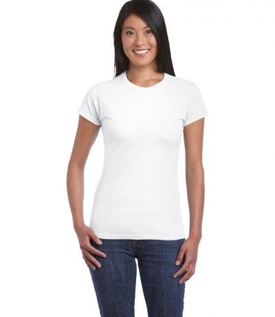 GIL 64000 - Gildan fehér női póló