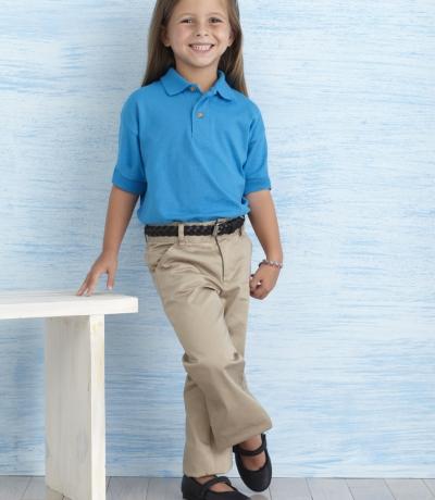 GIB 8800 - Gildan színes galléros gyerek póló