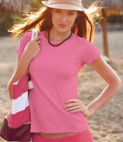 GIL 64000 - Gildan színes női póló